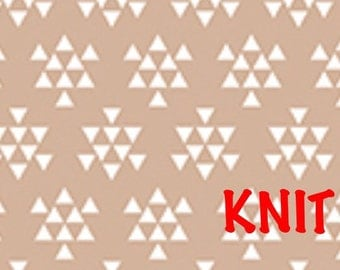 Triangle Arrows Knit Fabric from Bolt Desert Sky Collection