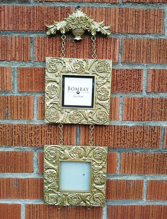 Ornate picture frame resin wall hanging decor vintage for Bungalow style picture frames