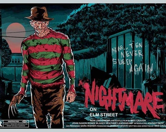 A Nightmare on Elm Street Freddy Krueger Print Alternative Movie Poster