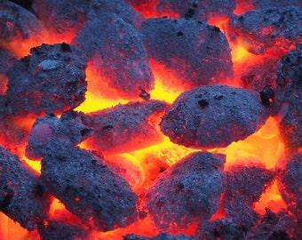 Coal - Coal Photo - Charcoal - Charcoal Photo - Embers - Embers Photo - Digital Photo - Digital Download - Instant Download - Home Decor