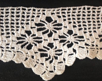 Vintage crocheted Lace Trim (Hand Made)