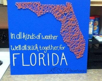 Florida nail string art 24x24