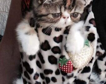 Leopard pet sling