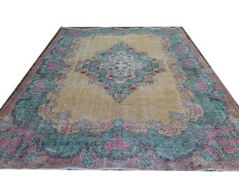 Yellow And Teal Rug Etsy