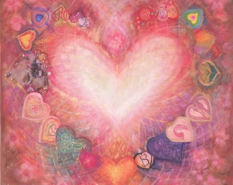 Divine Heart 7x7 inch Giclee Print- Unmatted