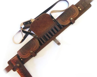 Leather Hunting, hunting cartridge, hunting gifts for men, gifts for men, Hunting gift, Leather Bandolier, Leather hunting knife, Knife Case