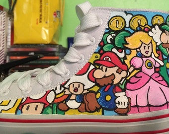 Super Mario Bros customised trainers