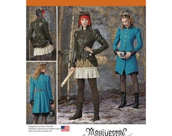 Sewing Pattern for Victorian/ Steampunk Costumes for Misses, Simplicity Pattern 1299, Halloween Costume, Womens Steampunk, Cosplay Costume