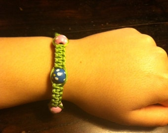 Bracelet: Square Knot with Beads