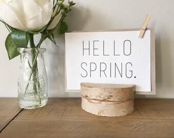Hello Spring Print - Digital Download