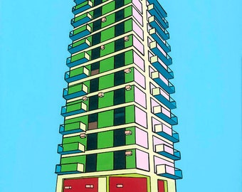 Building No 1 Signed Limited Edition Print