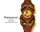 "micro macrame tutorial pattern ""Flamenco"" bracelet | PDF & 3 Videos"