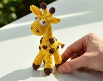 Giraffe plush, cuddly toy , Crochet amigurumi, stuffed animal, yellow gift