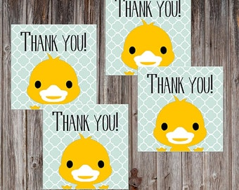 Printable Favor Tag, Duck Theme, Favor Thank You, Favor Tag, Favor Tags, Wedding Favor Tags, Gift Labels, Baby Shower Thank You