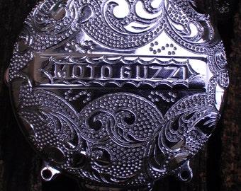 Engraving - motorbike