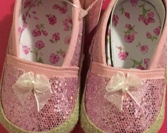 Sparkle and Bow Infant Shoes