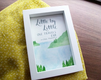 Fall Adventure Handpainted Frame with Tolkien Quote