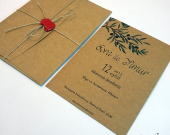 Rustic Wedding Invitations, Rustic Seal Invitations, Wedding Announcements, Seal  And Send Wedding Invitations