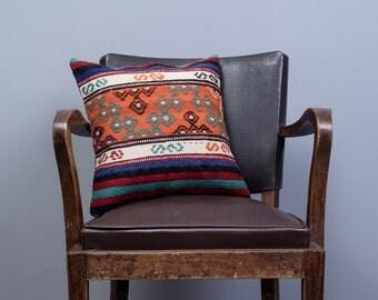PAYPAL, 16x16 inches (40x40 cm) Turkish Mersin embroidery cicim kilim pillow, Decorative pillow, Vintage home decor, Boho pillow, pillow