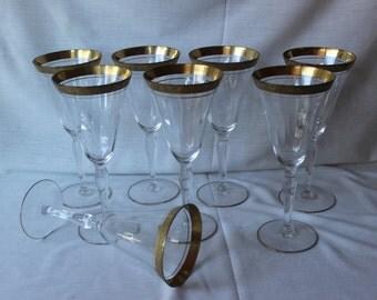 Gold Trimmed Goblets, #412