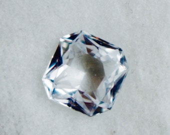 Natural White Sapphire Emerald Cut
