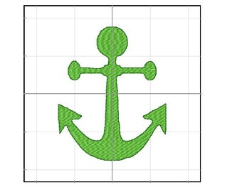 Anchor embroidery filled