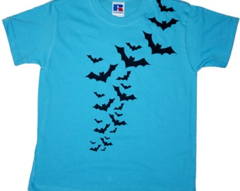 Boys T-Shirt with Fying Batslogo