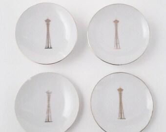 Vintage Space Needle plates..1962 Seattle's World Fair souvenir plates...set of 4