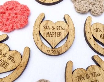 Wedding Favors -  Horseshoe Favors - Horseshoe Decor -   Wooden horseshoes - Rustic Wedding Favors - Wedding Table Decorations, 32TD