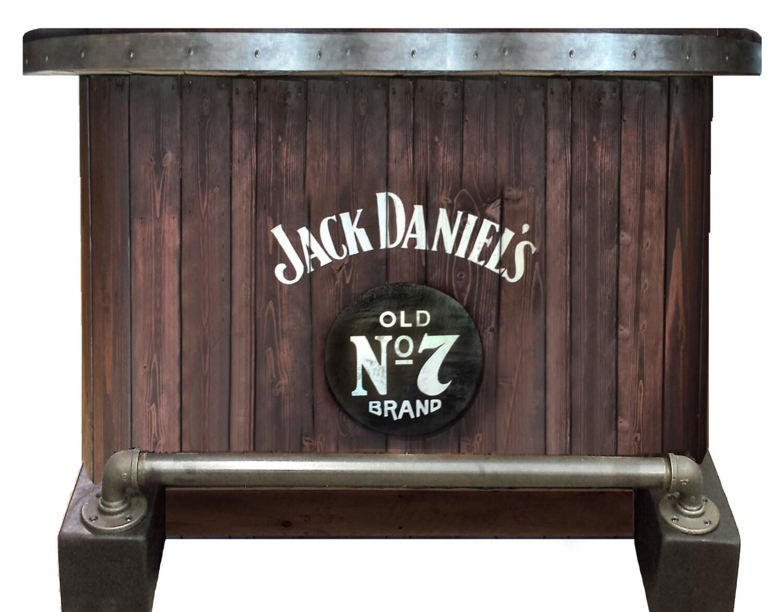 SOLD Jack Daniels Home Bar Custom Hand Built Rustic Whiskey, Pub, Man Cave  Portable Part 66