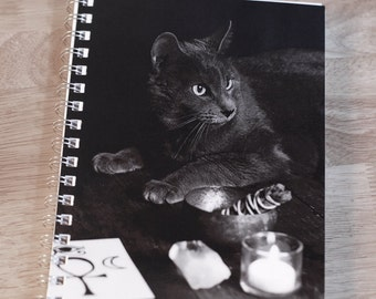 Witch's Familiar - Notebook. Journal. Diary. Book of Shadows. Grimoire. Pagan. Wiccan. Goth.