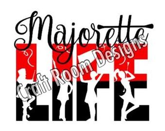 Majorette Life SVG Design