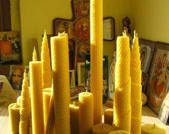 Set number 303 (up to 2 kg) It includes 29 beeswax candles