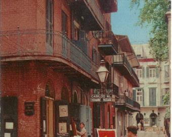 Artist in Pirate's Alley NEW ORLEANS LA Louisiana Postcard Post Card