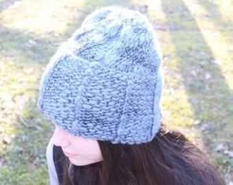 Ready to ship. Handmade winter hat, 100% merino wool
