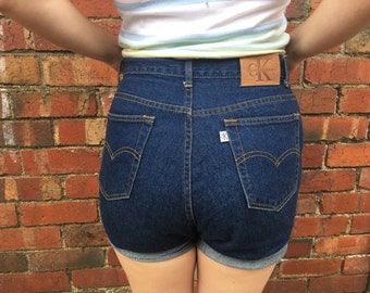 Size 12 Rare Vintage Calvin Klein Womens Denim Shorts