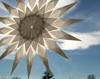 Window star, white star, waldorf star, paper art, type MILENA