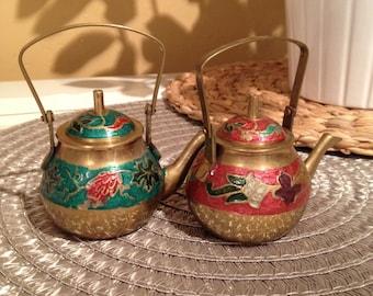 Beautiful Brass Teapots, Set of 2