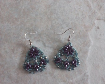 Fancy Purple/Blue Earrings