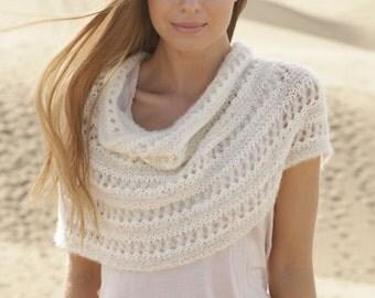 CAPE summer PONCHO SCHULTERWÄRMER poncho cowl knit collar knit poncho BabyMerino Alpaca silk