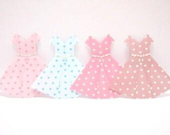 Origami Paper Dress, 12 Origami Dress, Origami Dress Garland