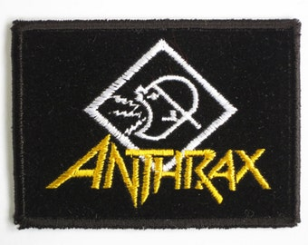 Vintage ANTHRAX Sew On Embroidered Thrash Metal Patch