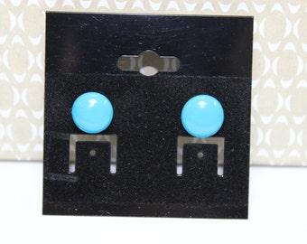 blue studed earrings