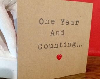 One year anniversary card