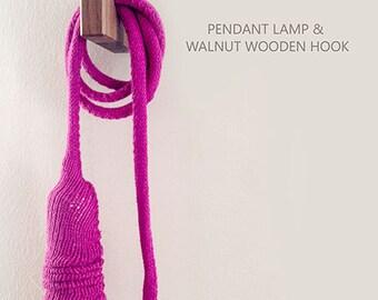 Knit Pendant Lamp & Wall Hunger