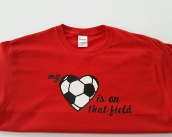 Personalized My Heart Soccer Shirt