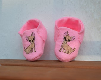 Baby Booties with Chihuahuas
