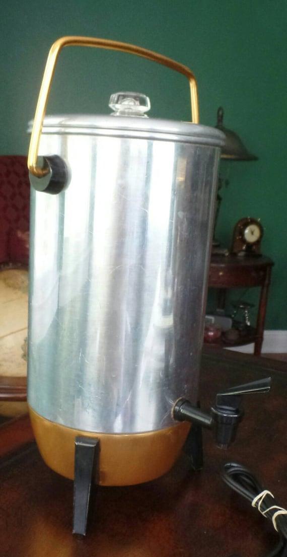 Mirro Percolator Coffee Maker : Items similar to MIRRO PARTY PERK Percolator Coffee Pot 9292 Vintage 60s 22 cup Copper aluminum ...