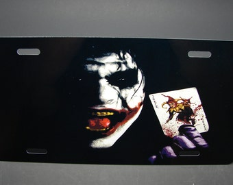 joker batman metal car license plate tag for cars