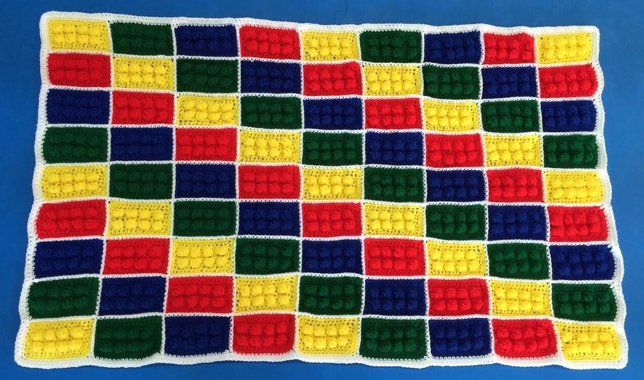 Crochet Lego Blanket Lego Blocks Blanket Handmade Child